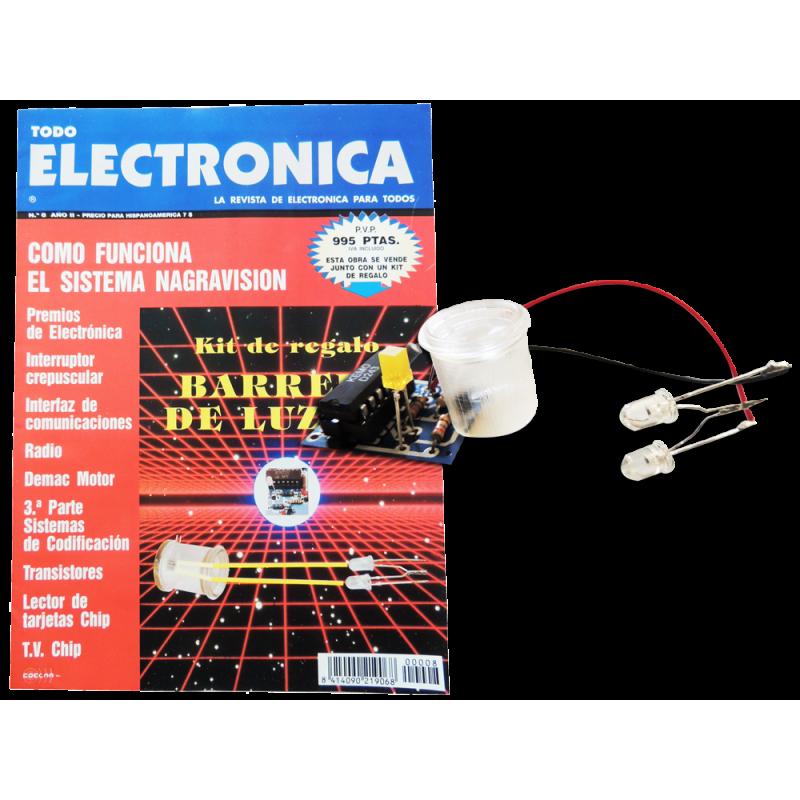 Kit electrónico para montar: barrera luz infrarroja + Revista Todoelectronica Nº8