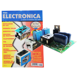 Kit electronico para montar, regulador de luz + revista todoelectronica Nº9