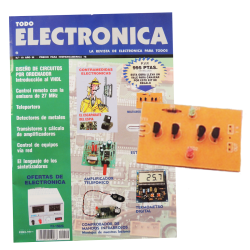 Kit electronico para montar, multicircuito fotosensible + revista todoelectronic