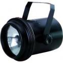 Proyector metálico para lámpara PAR 36 en negro
