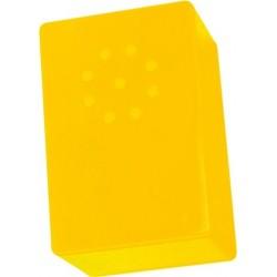 Caja de plástico amarillo para montajes, pack 3 unidades