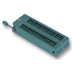 ZÓCALO, ZIF, 40VÍAS  Row Pitch:11.43mm; Tipo de caja:DIP; Tipo de conector:DIP