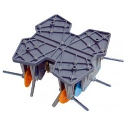 Grupo motor-reductor doble para montar un hexápodo caminante