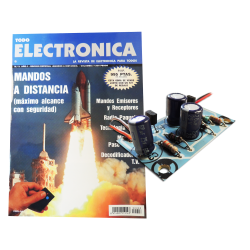Kit electronico para montar, Led Flasher + revista todoelectronica Nº3