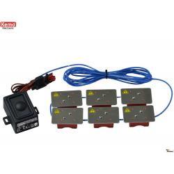 Ahuyentador ultrasónico de roedores 12 V/DC, resistente al agua con IP 65