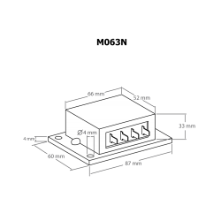 Dimmer (regulador de potencia) 12 V~ 10 A como máximo (o 24...48 V~)