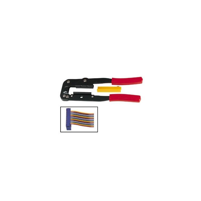 TENAZA DE CRIMPAR CABLE PLANO Crimpadora para engastar connectores cable plano d