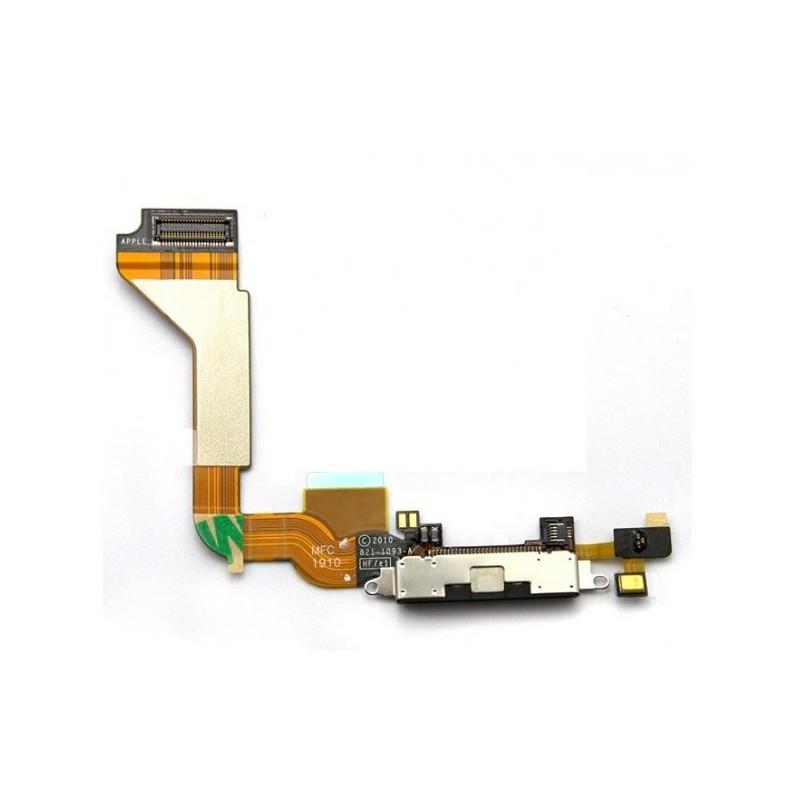 Cable flex para iPhone 4G que contiene el conector por donde se recarga de bater