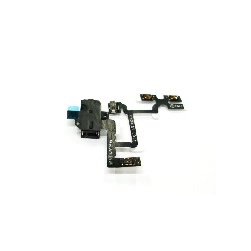 Cable flex conector auriculares + Volumen + Hold iPhone 4G