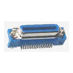 1 Conect. Centronics hembra acodado circuito impreso
