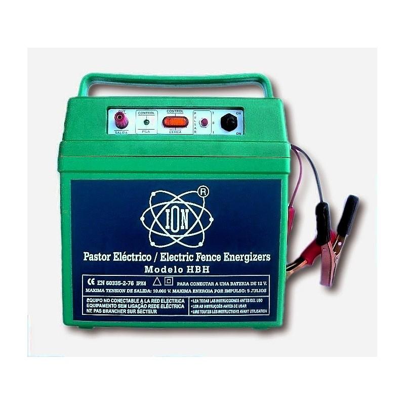 Electrificador de vallas alimentado con bateria automovil modelo HBH.