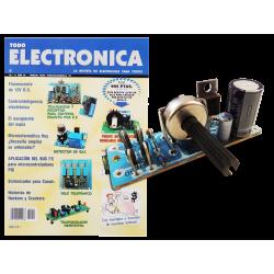 Kit electrónico para montar: fuente de alimentación regulable 0-12v 0.8A + Revista Todoelectronica N