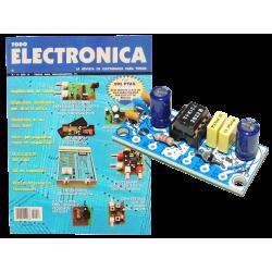 Kit electronico para montar, amplificador de B.F 1W + revista todoelectronica Nº