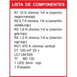 Kit electronico para montar, temporizador + revista todoelectronica Nº15