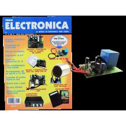 Kit electrónico para montar: circuito de voz y relé infrarroja + Revista Todoelectronica Nº16