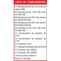 Kit electronico para montar, circuito multisensible comprobador continuidad + re
