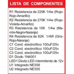 Kit electronico para montar, alarma para automovil + revista todoelectronica Nº2