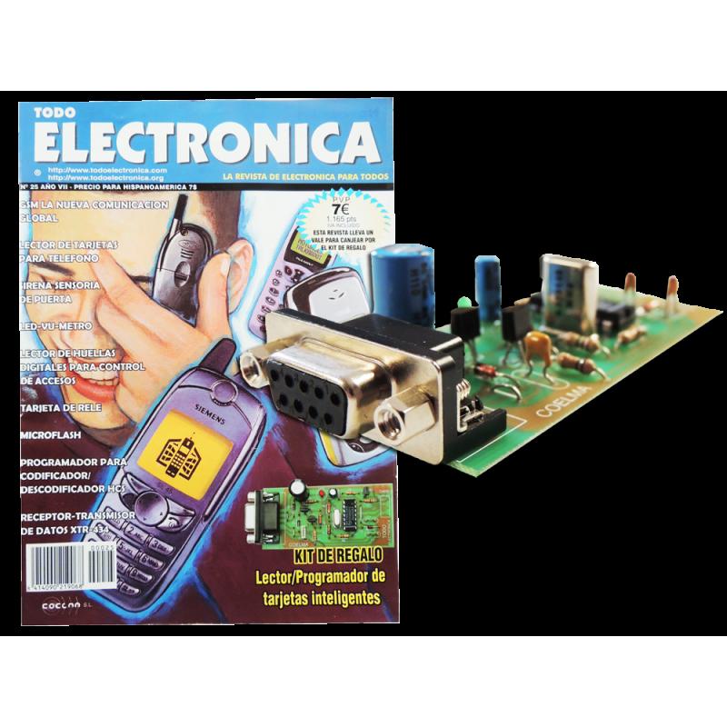 Kit electronico para montar, lector-programador tarjetas inteligentes + revista
