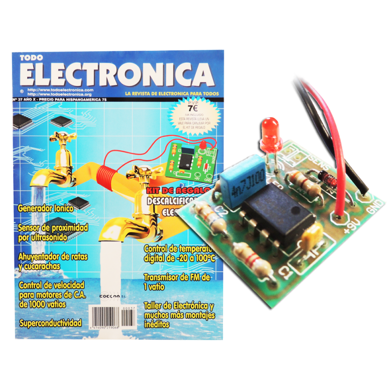 Kit electronico para montar, descalcificador electronico  + revista todoelectron