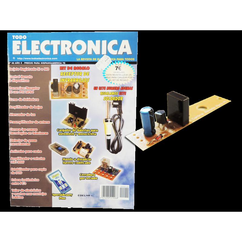 Kit electronico para montar, receptor infrarrojo + revista todoelectronica Nº40