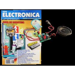 Kit electrónico para montar: detector de líquido + Revista Todoelectronica Nº43