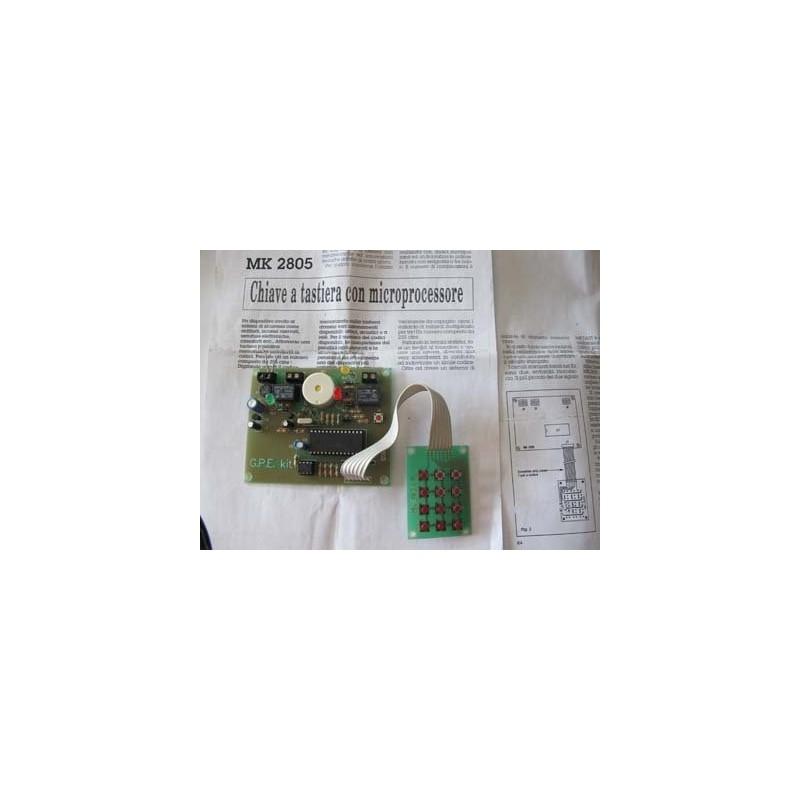 Kit para montar una llave con teclado y microprocesador para seguridad