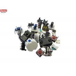 Micro interruptores y botones, aprox. 30 piezas