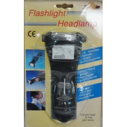 Linterna de iluminación convertible para uso en cabeza