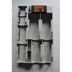 Caja calsificadora de pilas con comprobador