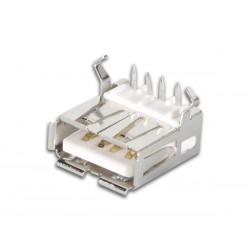 CONECTOR USB TIPO A, HEMBRA, SIMPLE CONECTOR ACODADO, PARA CI