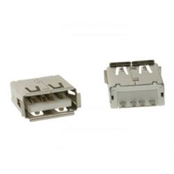 CONECTOR USB TIPO A, HEMBRA, CONECTOR SIMPLE 180°, PARA CI