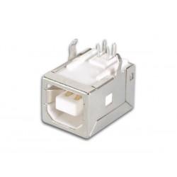 CONECTOR USB TIPO B, HEMBRA, SIMPLE CONECTOR ACODADO, PARA CI