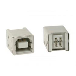 CONECTOR USB TIPO B, HEMBRA, CONECTOR SIMPLE 180°, PARA CI