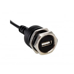 CONECTOR USB HEMBRA PARA CHASIS CON CABLE DE 30cm