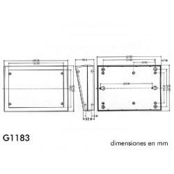 Caja para teclado - gris 189 x 134 x 32/55mm