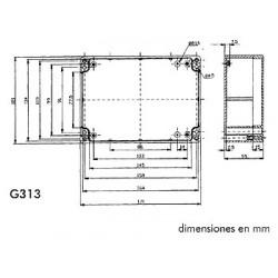 Caja estanca abs - gris oscuro 171 x 121 x 55mm