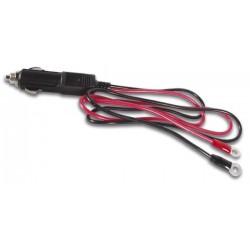 Cable prolongador dc para conector mechero (70cm) con terminales aislados tipo redondo