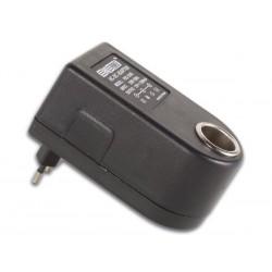 Adaptador de coche 230vac/12-13.8v 900ma
