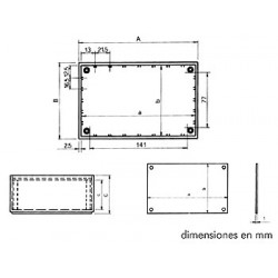 "Caja de plÁstico modelo ""optative"" - azul petrÓleo 160 x 96 x 61mm"