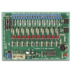 Generador de efectos luminosos de 10 canales, 12vdc