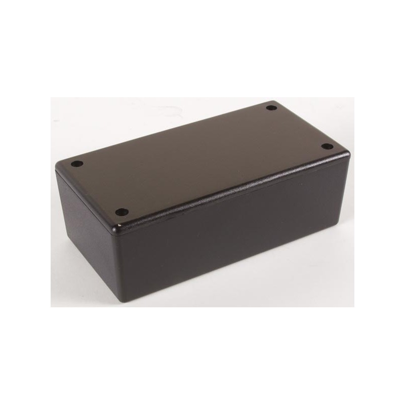 Caja de plÁstico - negro 130 x 70 x 45mm