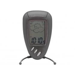 Estación meteorológica con reloj, alarma, temperatura int-ext y humedad