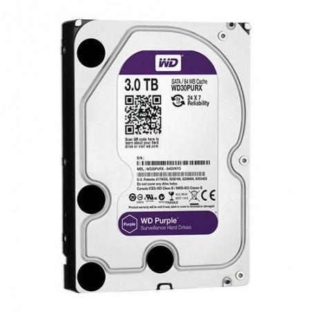 Disco duro de 3 TB. Especial Videovigilancia Western Digital Purple