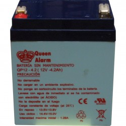 Batería de 12V/4.2Amp para alarmas cableadas Paradox