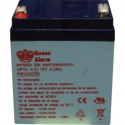 Batería de 12V/4.2Amp para alarma cableada Paradox 90x70x101 mm 1.5 kg