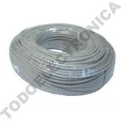Cable funda APANTALLADO libre de halógenos de 2 x 0,75 + 4 x 0,18. Rollo 100 mts para alarmas cablea