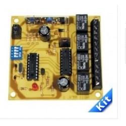 Receptor 4 canales 433Mhz