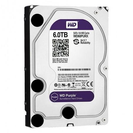 Disco duro de 6 TB. Especial Videovigilancia Western Digital Purple