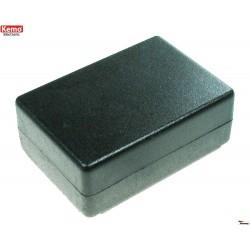 Caja de plástico, negra 72 x 50 x 28 mm