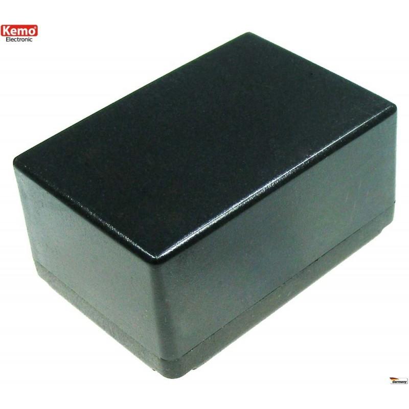 Caja de plástico, negra  72 x 50 x 35 mm